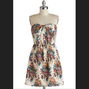 Modcloth Blossoming Reminiscence Dress